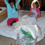 Waking up on flat air mattresses