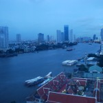 View of the Chao Phraya River from the Asiatique Ferris wheel.