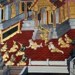 Wat Prakaew has some truly beautiful murals retelling Buddhist tales. They are impressively vivid.